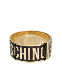 Love Moschino - Purple Large Logo Bracelet - Lyst