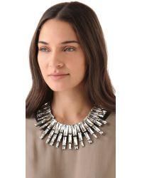 Noir Jewelry - Metallic Nightfall Statement Collar - Lyst