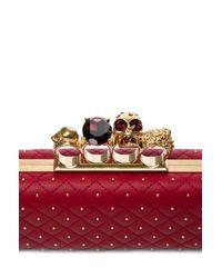 Alexander McQueen | Red Knuckle Box Long Clutch in Cherry | Lyst