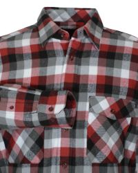 Double Two | Red King Size Long Sleeve Cotton Check Shirt for Men | Lyst