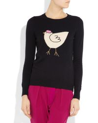 J.Crew - Blue French Hen Intarsia Woolblend Sweater - Lyst