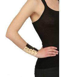 Bordelle - Black Studded Leather Banded Cuffs Bracelet - Lyst