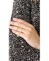 Campbell - Metallic Knuckle Floating Ring - Gold - Lyst