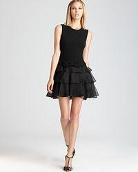 Rachel Zoe - Black Sleeveless Dress Judi Ruffle - Lyst