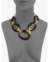 Alexis Bittar | Black Lucite Link Necklace | Lyst