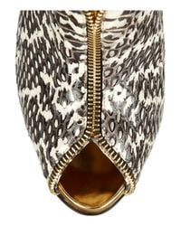 Christian Louboutin | Gold Leather and Water Snake Ankle Boots | Lyst