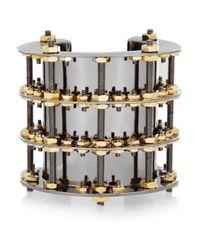 Eddie Borgo   Metallic Gunmetalplated and Brass Cuff   Lyst