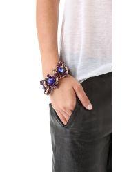 Gemma Redux - Purple Tanzanite Large Link Bracelet - Lyst