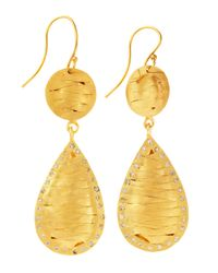 Kevia | Metallic Woven Teardrop Earrings | Lyst