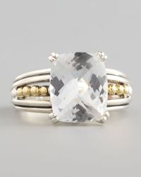 Lagos - Metallic Silver Prism Small Ring White Topaz - Lyst
