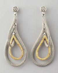 Lagos - Metallic Soiree Teardrop Earrings - Lyst