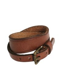 Polo Ralph Lauren - Brown Leather Strap Bracelet for Men - Lyst