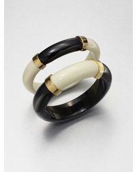 Tory Burch - Black Tomi Resin Bangle Bracelet Set - Lyst