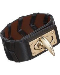 Givenchy | Metallic Shark Lock Woven Leather Bracelet | Lyst