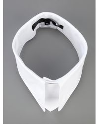 Karl Lagerfeld - White Pointed Collar - Lyst