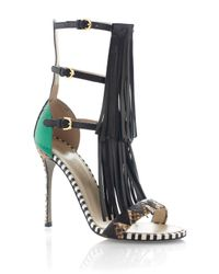 Sergio Rossi | Multicolor Ss Tawaraya Double Tiered Sandal | Lyst