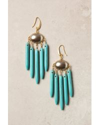Anthropologie | Blue Turquoise Chimes Earrings | Lyst