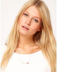 ASOS - Metallic Matchstick Necklace - Lyst