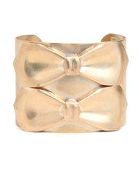 BaubleBar | Metallic Duo Bow Cuff | Lyst