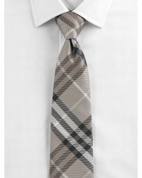 Burberry - Natural Check Silk Tie for Men - Lyst