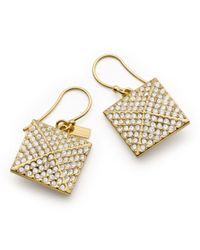 COACH | Metallic Pave Pyramid Drop Earrings | Lyst