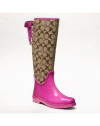 COACH | Pink Tristee Rainboot | Lyst