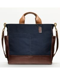 COACH   Blue Bleecker Legacy Canvas Utility Tote for Men   Lyst