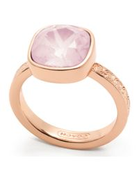 COACH | Pink Square Stone Ring | Lyst