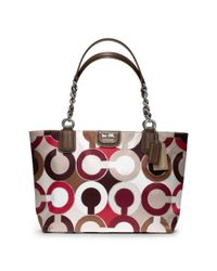 COACH | Multicolor Madison Graphic Op Art Metallic Tote | Lyst
