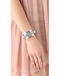 Juicy Couture - Metallic Pyramid Metal Cuff - Lyst