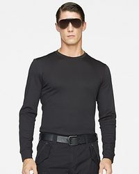 Ralph Lauren | Black Label Longsleeved Leatherpatch Cotton Interlock Crewneck for Men | Lyst