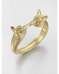 Tory Burch | Metallic Kissing Foxes Bangle Bracelet | Lyst