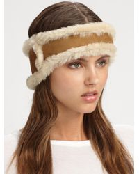 UGG | Brown Shearling Headband | Lyst