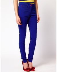 House of Holland | Skinny Jeans in True Blue | Lyst