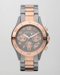 Marc By Marc Jacobs - Metallic Rock Chronograph Two-Tone Watch  - Lyst