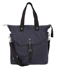 Ally Capellino - Blue Navy Timothy Waxed Cotton Tote Bag for Men - Lyst