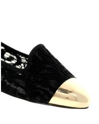 ASOS | Black Asos Limit Slipper Shoes with Metal Toe Cap | Lyst
