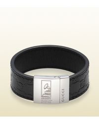 Gucci | Black Bracelet with Grammy Logo Engraving Latin Grammys Special Edition for Men | Lyst