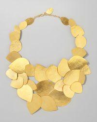 Herve Van Der Straeten - Metallic Leaf Cluster Necklace - Lyst