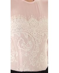 By Malene Birger - Pink Vironia Gown with Lace Trim - Lyst
