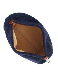 Calabrese Bags - Blue Navy Gajola Boiled Wool Wash Bag for Men - Lyst