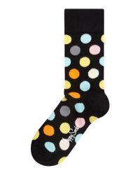 Happy Socks | Black Happy Socks Multi Spot Socks for Men | Lyst