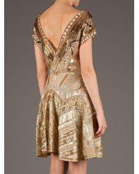 Matthew Williamson   Gold Embellished Dress   Lyst