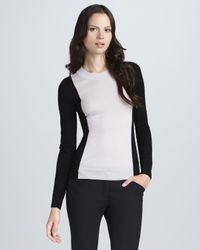 Theory - Black Colorblock Sweater - Lyst
