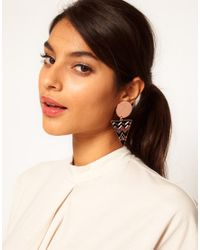 ASOS | Black Spot Triangle Doorknocker Earrings | Lyst