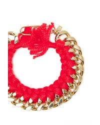 Aurelie Bidermann - Red Do Brazil Chain Bracelet - Lyst