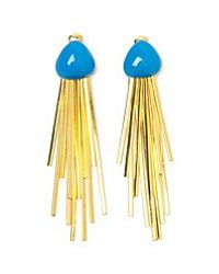 Aurelie Bidermann | Metallic Mendoza 18karat Goldplated Enameled Clip Earrings | Lyst