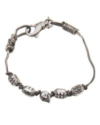 Emanuele Bicocchi - Metallic Single Skull Bracelet - Lyst