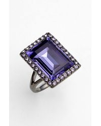 Givenchy | Purple Rock Crystal Cocktail Ring | Lyst