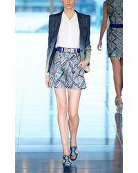 Matthew Williamson | Blue Raj Linen Tailored Shorts | Lyst